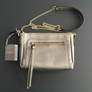 Sam & Libby Bags - NEW! Sam & Libby Metallic Taupe Crossbody Handbag